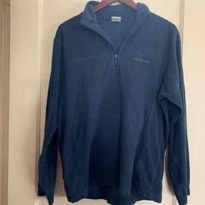 Columbia Men's Navy Blue Fleece Quarter-zip